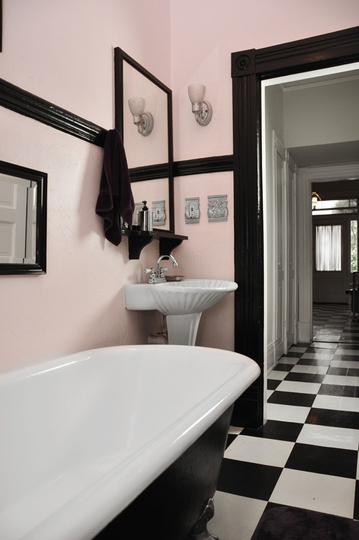 s pink and black bedroom bath make on